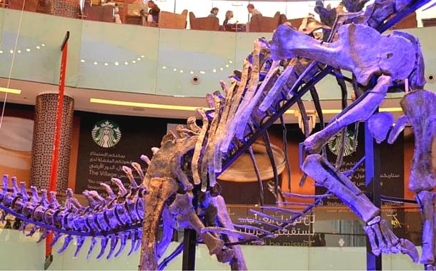 80 Foot Dino at Dubai Mall