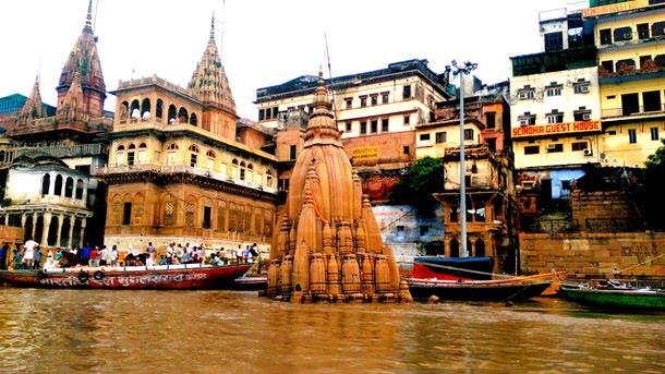 A sunken temple
