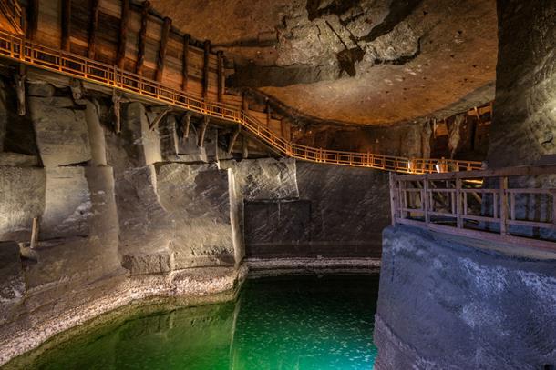 An underground lake