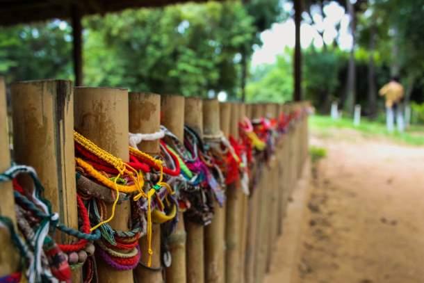 Bracelets at the Killing Fields in Cambodia
