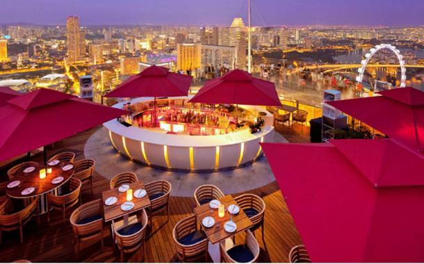CÉ LA VI rooftop restaurant, Singapore