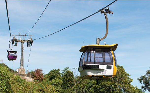 Cable car ride to Genting Highlands