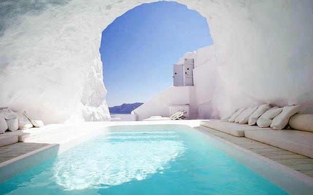 Cave pools, Santorini