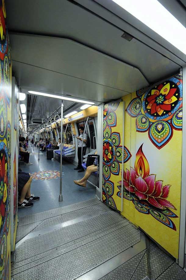 Diwali decoration at Singapore Metro