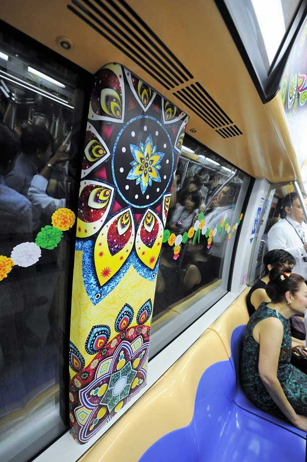 Diwali decorations, Singapore Metro