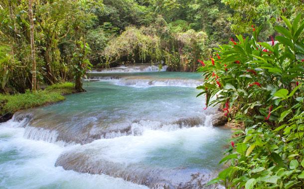 Dunn's River waterfalls, Jamaica