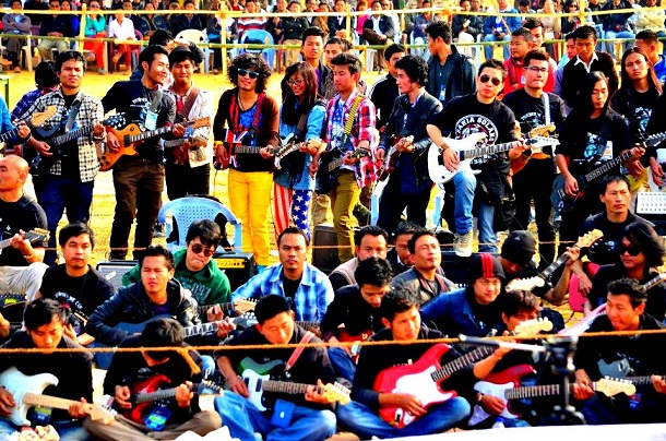 Guinness World record For World's Largest Electric Guitar Ensemble