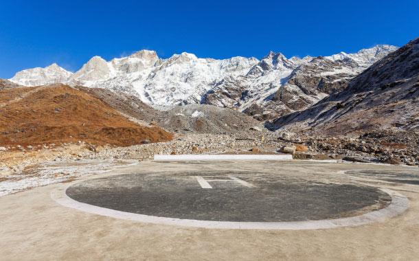 Helipad near the Kedarnath Temple, Uttarakhand