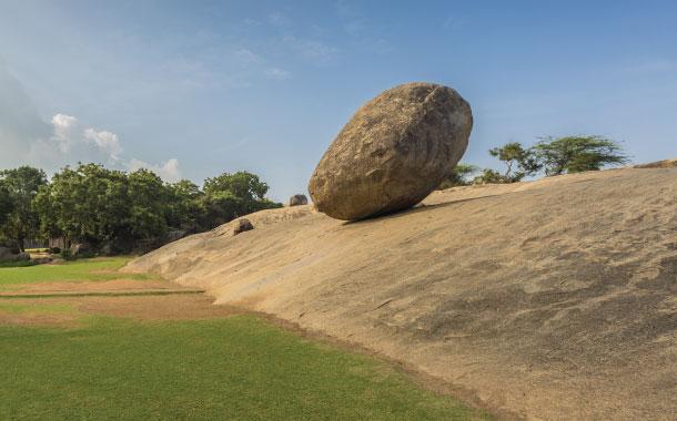 Krishna's Butterball, Mahabalipuram