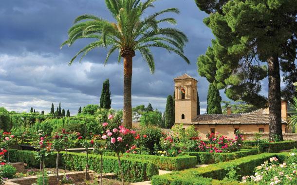 La Alhambra Garden in Spain