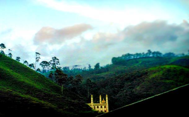 Mosque on tea gardens