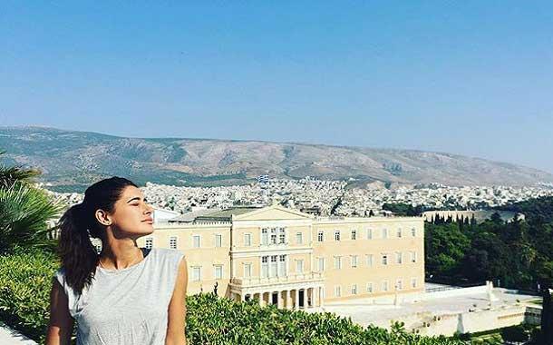 Nargis Fakhri in Greece