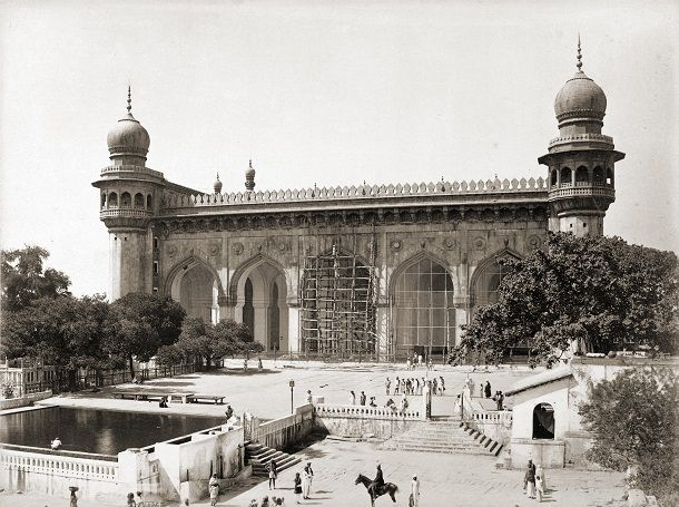 Old photo of Hyderabad's Mecca Masjid