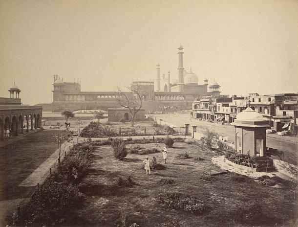 Old photo of Jama Masjid, Delhi
