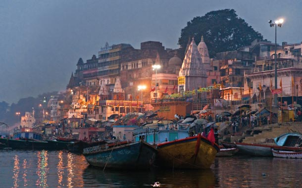 On the banks of the river Ganges, Varanasi