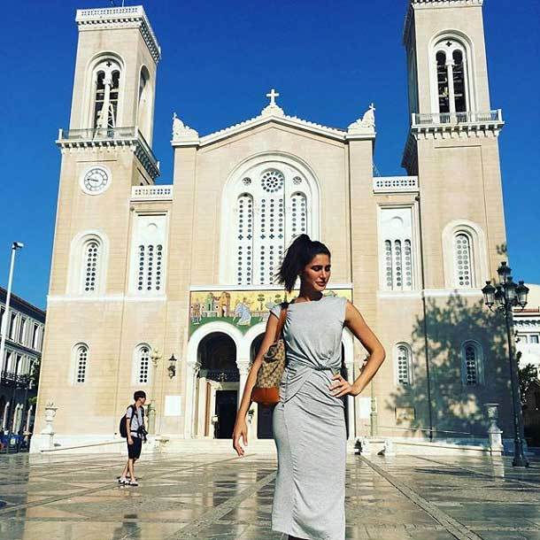 Outside Metropolitan cathedral of Athens