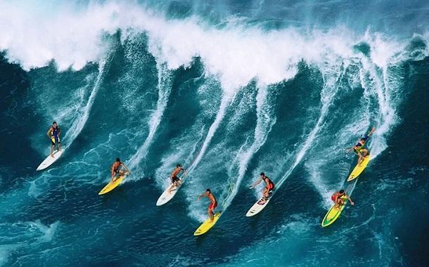Surfing in Kerala