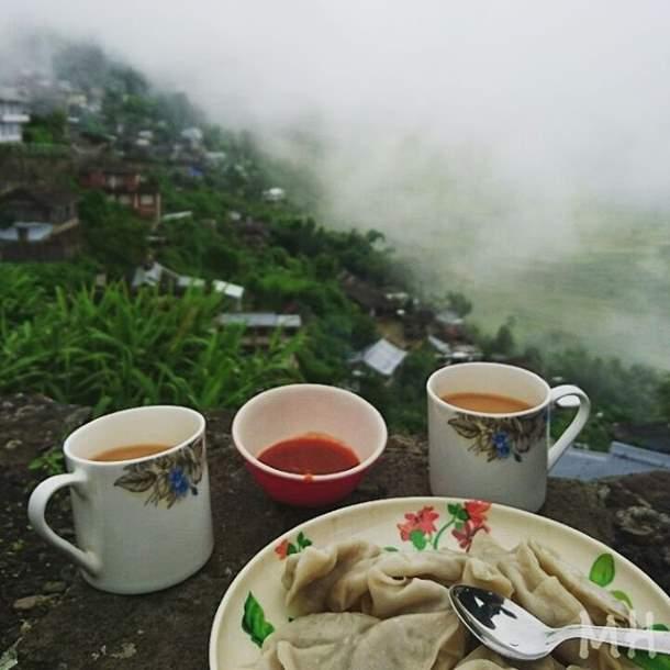 Tea and momos, Nagaland