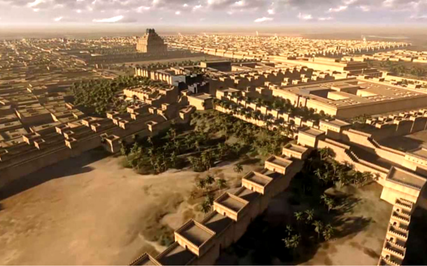 The artistic representation of Babylon, Iraq