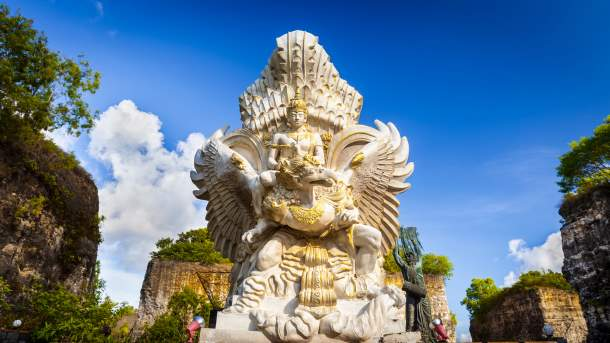 This is the place where Lord Vishnu resides with his mount Garuda