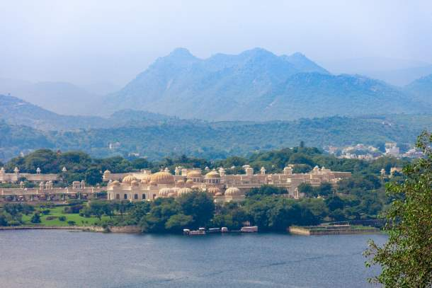 Udaivilas Palace near Pichola Lake