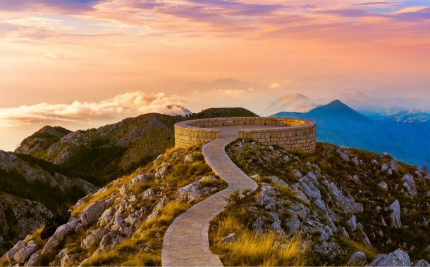 View from the top, Montenegro