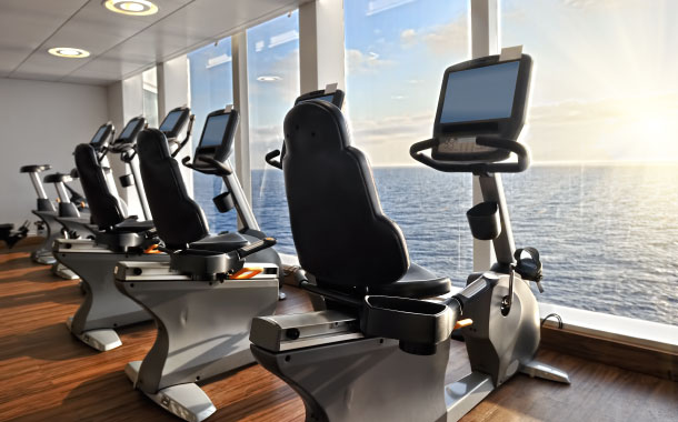 Workout Area in a Cruise Ship