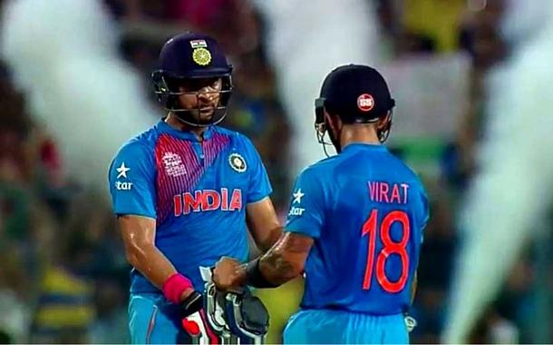 Yuvraj and Kohli's partnership driving India to victory