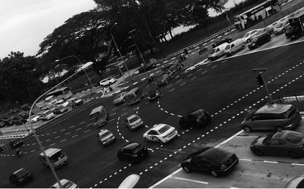 A busy junction near Yishun, North Singapore