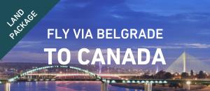 Fly to Canada via Belgrade