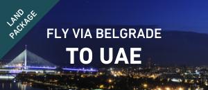 Fly to UAE via Belgrade