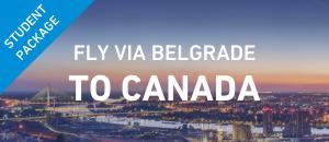 Fly to Canada via Belgrade st...