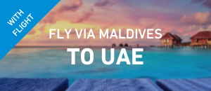 Fly to UAE via Maldives
