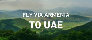 Fly to UAE via Armenia