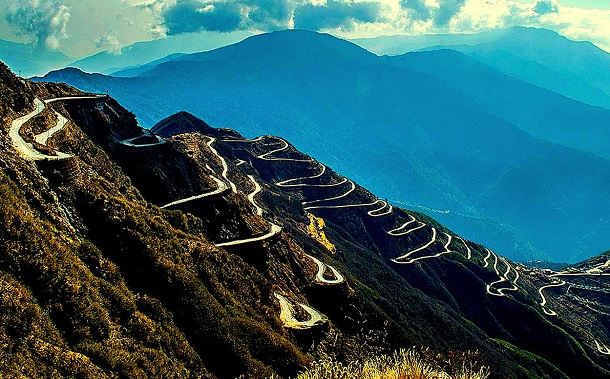 Hairpin bends, Sikkim