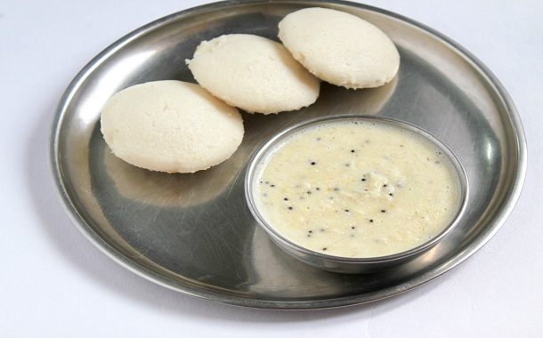 Idli And White Chutney