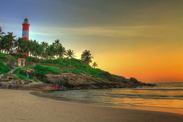 Lighthouse Beach at Kovalam