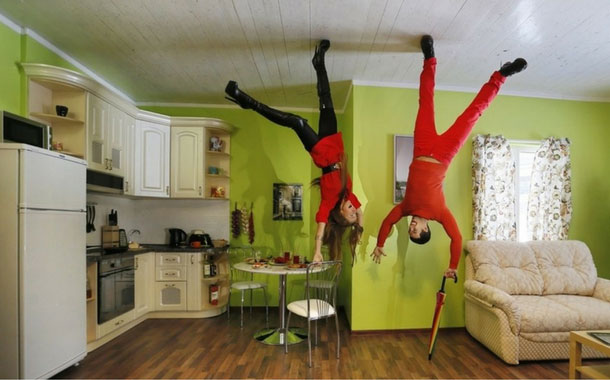 Moscow's upside down house, Russia