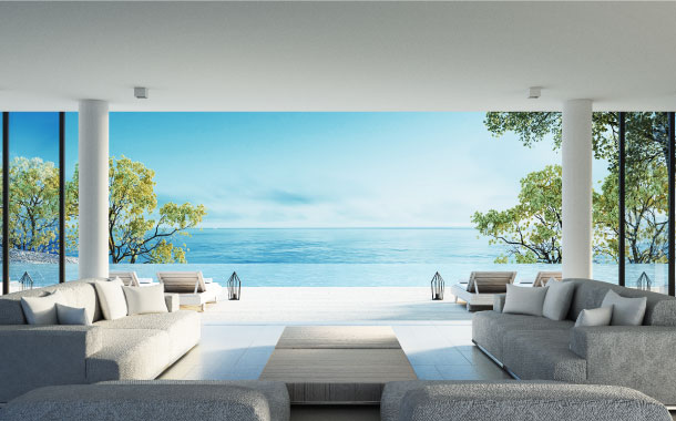 Ocean-view from the comforts of your room
