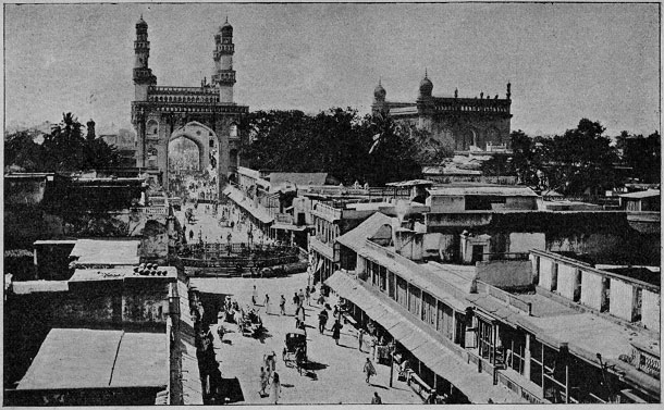 Old photo of Charminar, Hyderabad