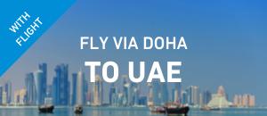 Fly to UAE via Doha