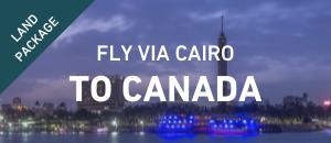 Fly to Canada via Cairo