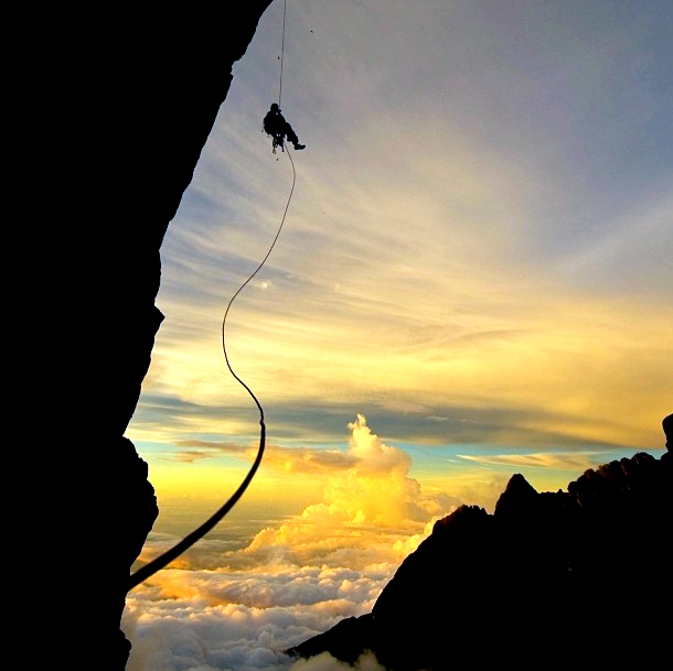 Rappelling at Mt Kinabalu