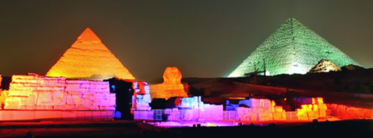 Sound and light show at Gaza pyramids