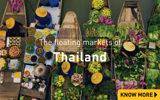 The Floating Market of Thailand