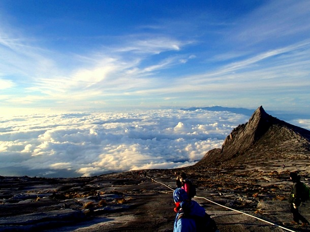 Walk in the clouds at Mt Kinabalu